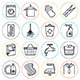 Housework and Cleaning Line Icons - GraphicRiver Item for Sale