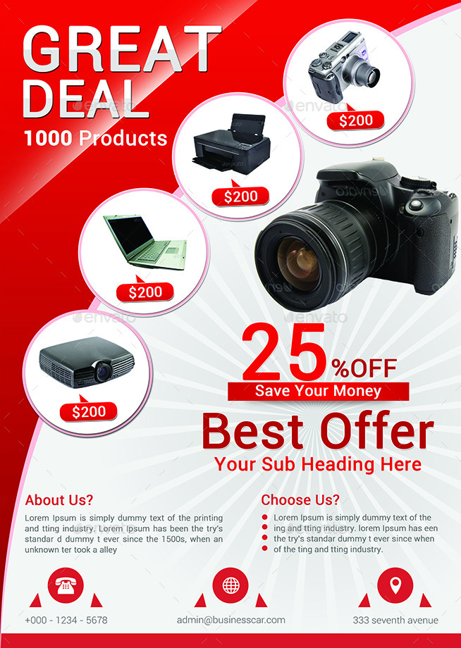product promotion flyer bundle by afjamaal