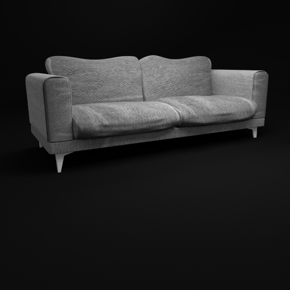 Minimalist Sofa With Jeans Texture - 3DOcean Item for Sale