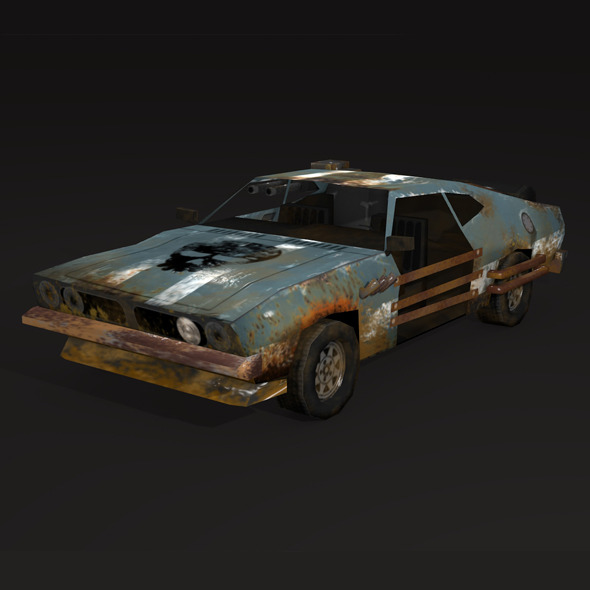 postapo Ford Falcon XB (1973), LOW POLY - 3DOcean Item for Sale
