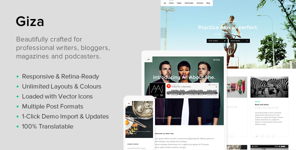 Giza – A Multi Concept Theme For Writers