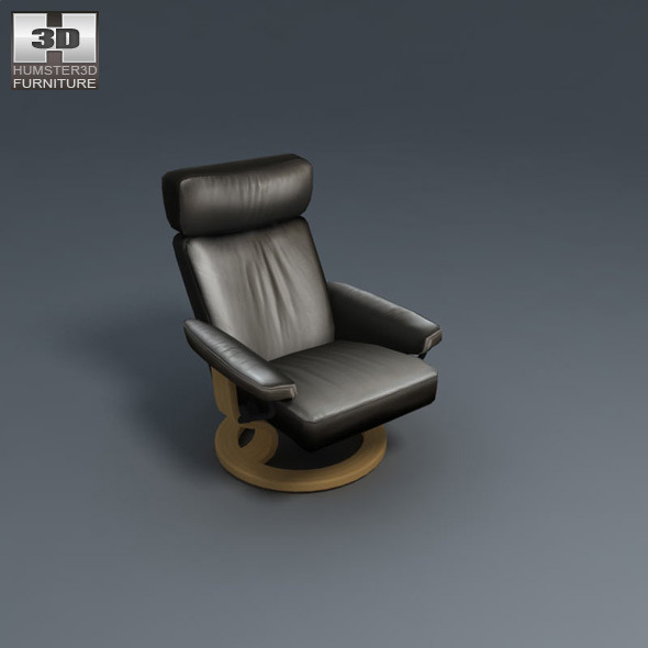 orion chair ekornes stressless 3d model by humster3d 3docean. Black Bedroom Furniture Sets. Home Design Ideas