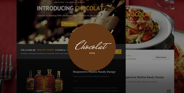 Chocolat – Bootstrap Restaurant Template