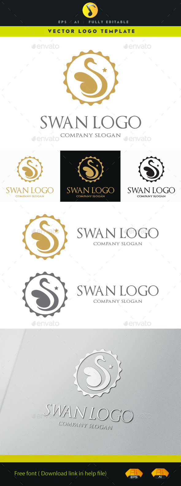 Swan Logo  - Animals Logo Templates
