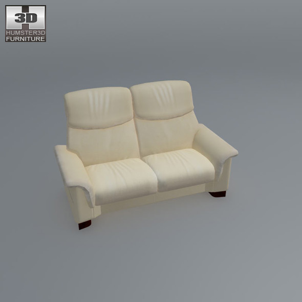 paradise loveseat ekornes stressless 3d model by humster3d 3docean. Black Bedroom Furniture Sets. Home Design Ideas