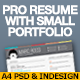 Pro Resume With Small Portfolio - GraphicRiver Item for Sale