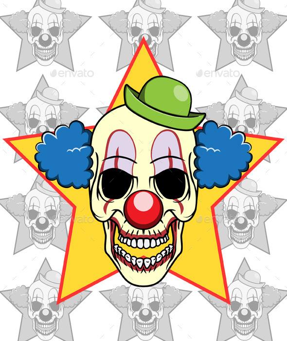 Skull Clown - Miscellaneous Vectors