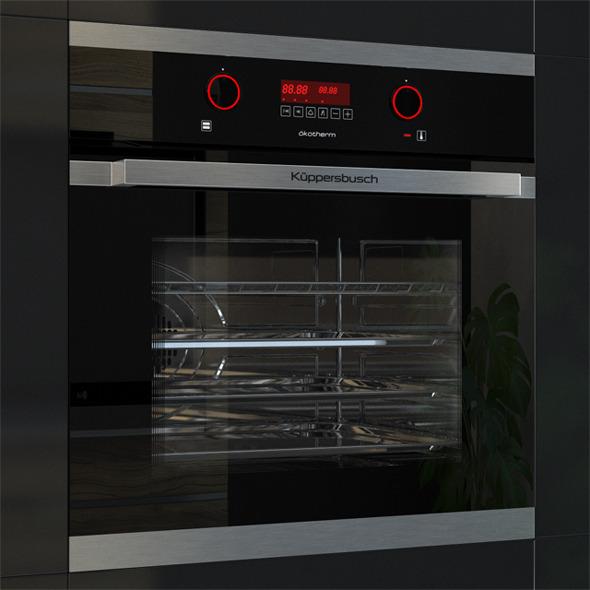 Kuppersbusch EEB 6360 Oven Black  - 3DOcean Item for Sale