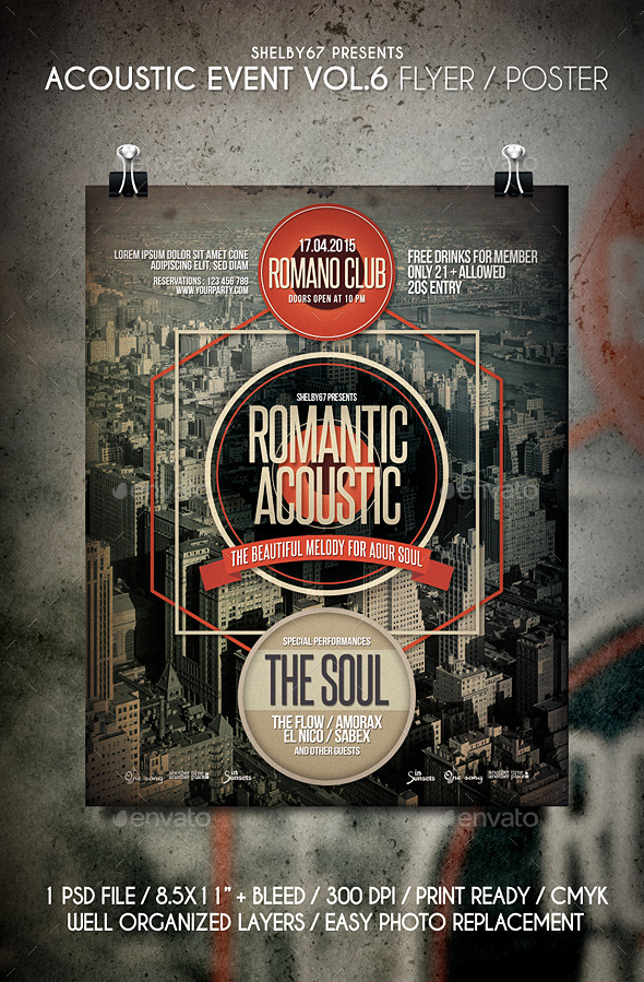 Acoustic Event Flyer / Poster Vol.6 - Events Flyers