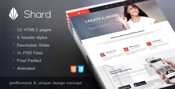 Shard – Multipurpose Business HTML5 Template