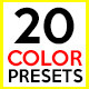20 Color Presets - VideoHive Item for Sale