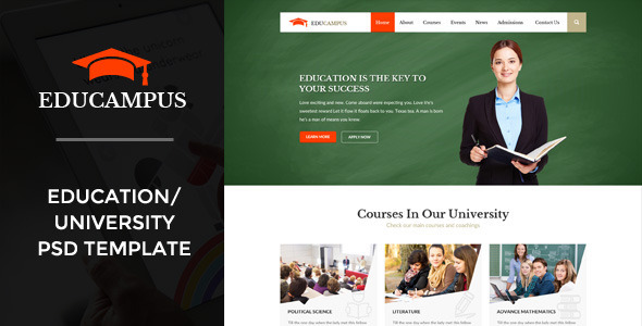 Educampus | Education/University PSD Template - Corporate PSD Templates
