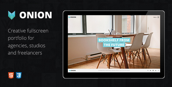 Onion – Responsive & Creative Retina Ready HTML Portfolio Theme with Parallax and Big Images