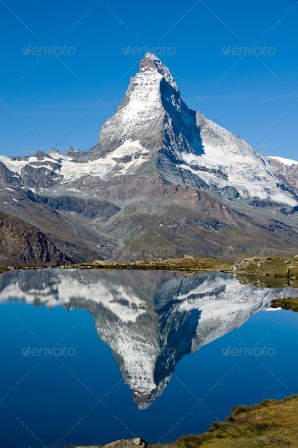 Doubled Matterhorn - Stock Photo - Images