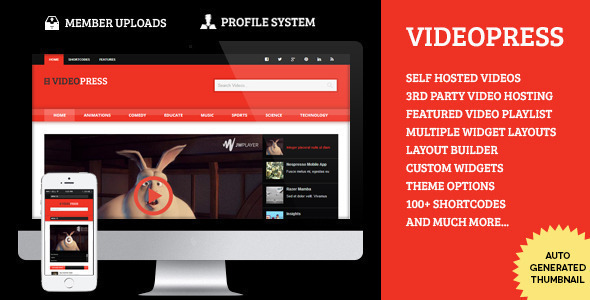 VideoPress – A Self Hosted Video Streaming Theme