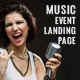 Electron Music Event Landing Page Nulled