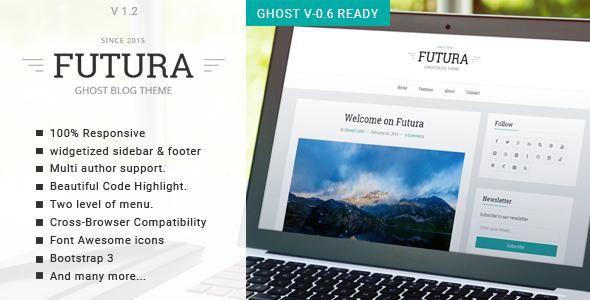 Futura – Responsive Minimal Ghost Theme