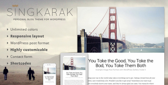 Singkarak – Responsive WordPress Blog Theme