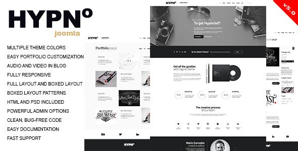 Hypno – Modern, Responsive Joomla Template