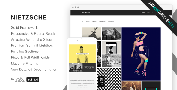 Nietzsche – Creative Multi-Purpose HTML Template