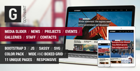 Government – Responsive Political Template