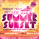 Summer Sunset Party Flyer - GraphicRiver Item for Sale