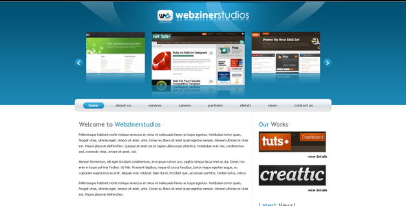 Webzinerstudios - Corporate Site Templates