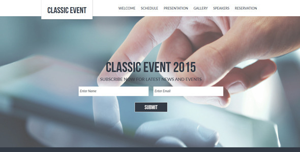 Classic Event Muse Template With Gumroad - Corporate Muse Templates