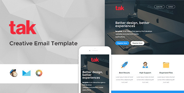 Tak – Modern Email Template + Online Access