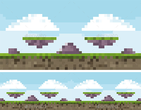 Pixel Art Game Background - Backgrounds Game Assets