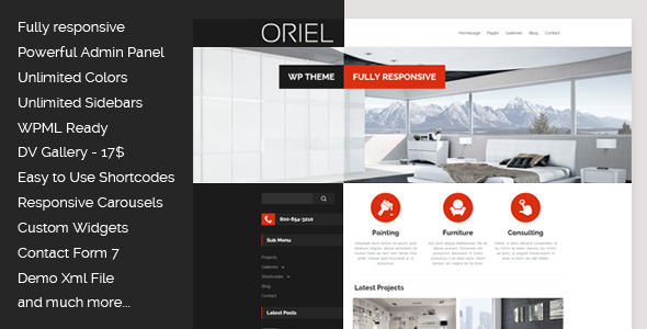 Oriel Responsive Interior Design Wordpress Theme By Egemenerd