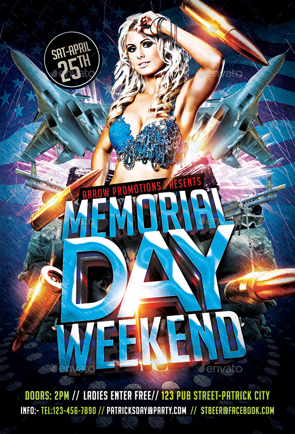 Memorial Day Weekend Flyer Template By Arrow  Graphicriver