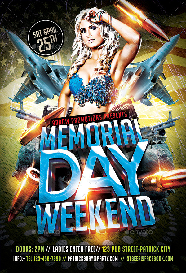 Memorial Day Weekend Flyer Template By Arrow3000 | Graphicriver