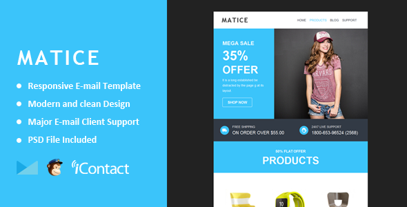 Matice - Responsive E-mail Template + Themebuilder Access - Email Templates Marketing