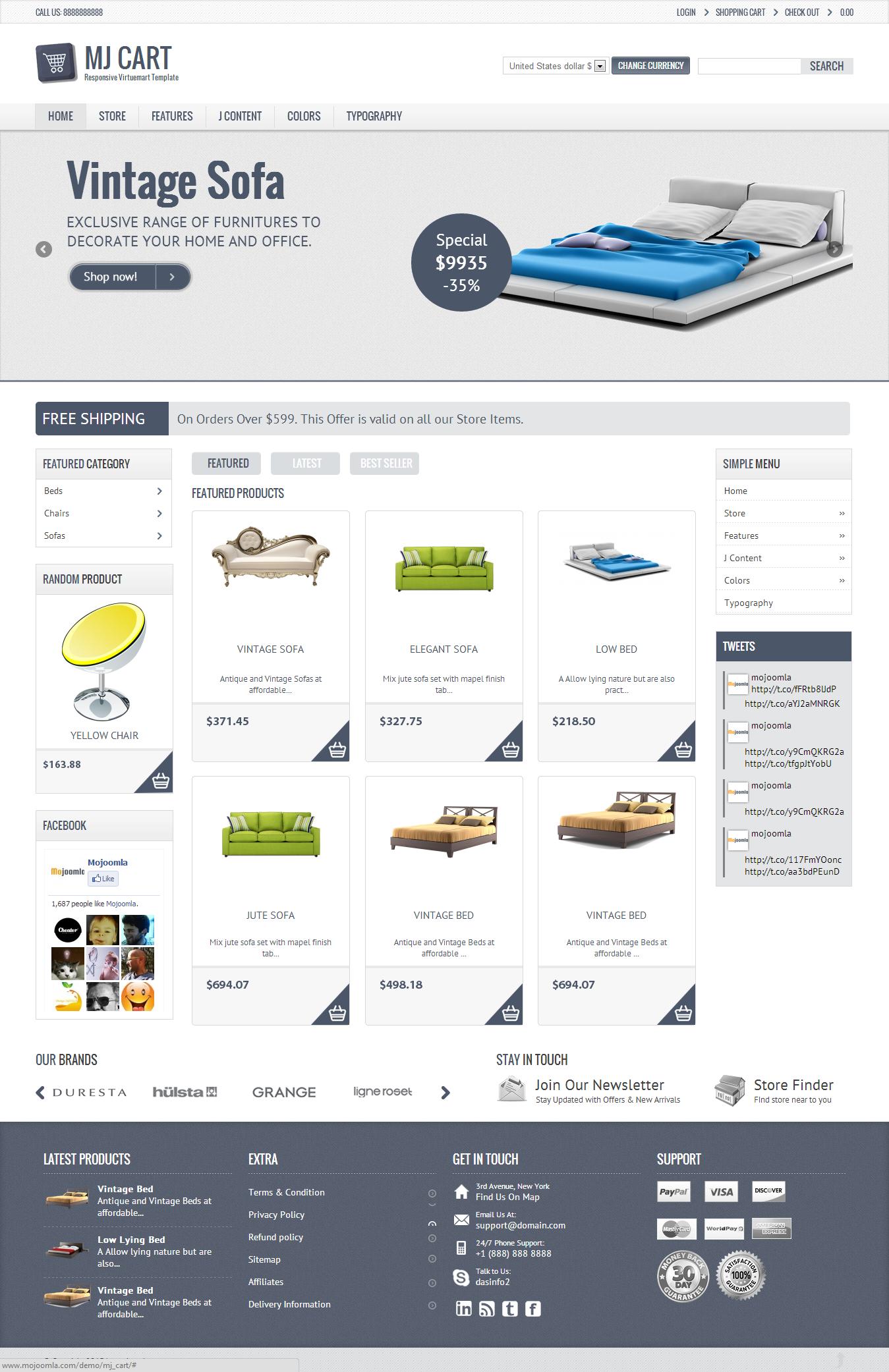 Mj Cart - Responsive Virtuemart Template by dasinfomedia | ThemeForest