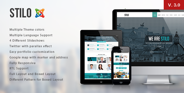 Stilo – One Page Multipurpose Joomla Template