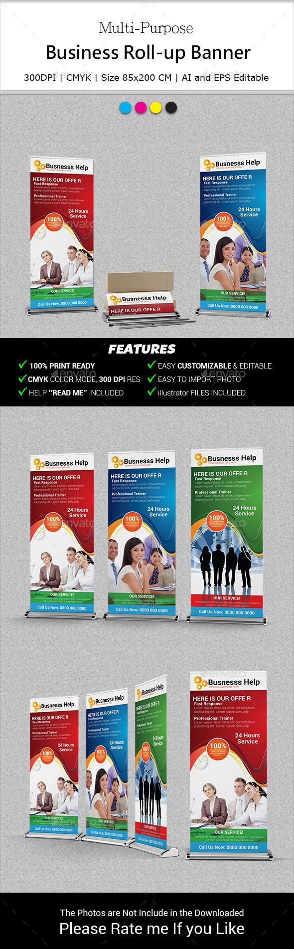 Multipurpose Business Roll-Up Banner Vol-10