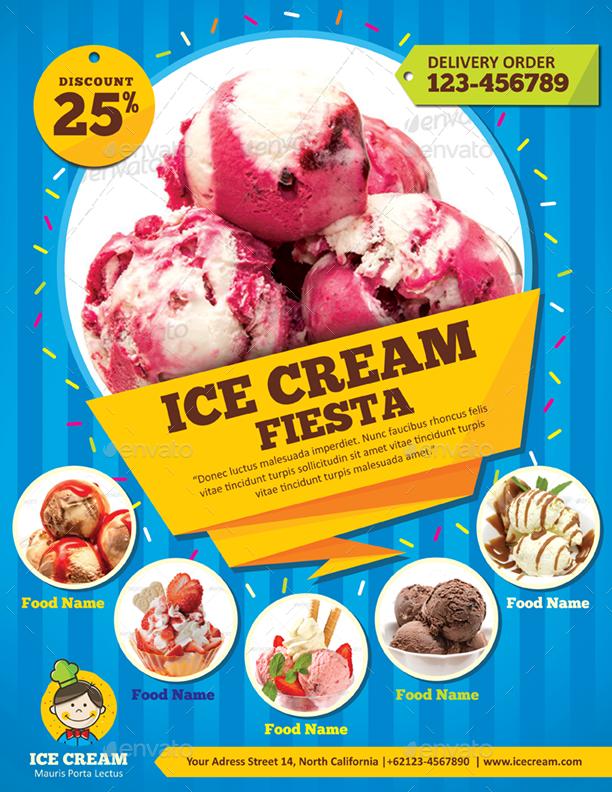 Ice Cream Flyer Idealstalist