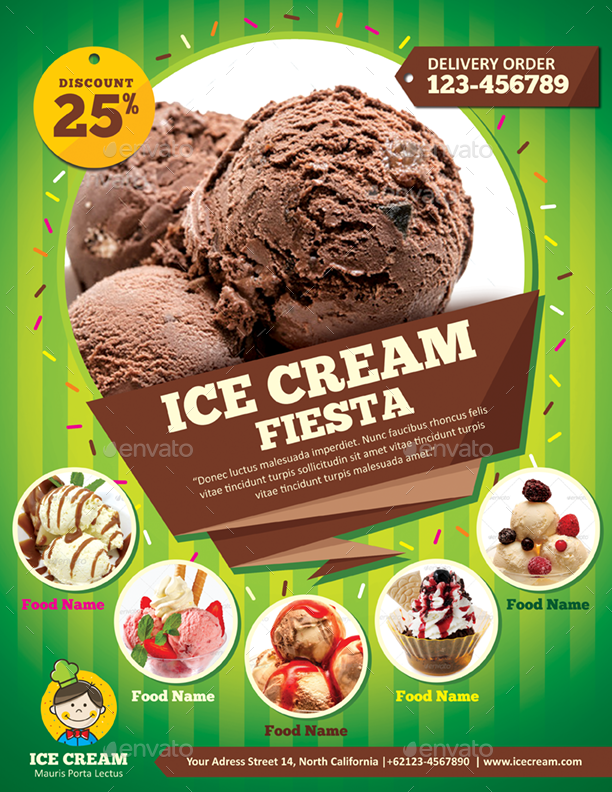 Ice Cream Flyer Template By Monggokerso Graphicriver