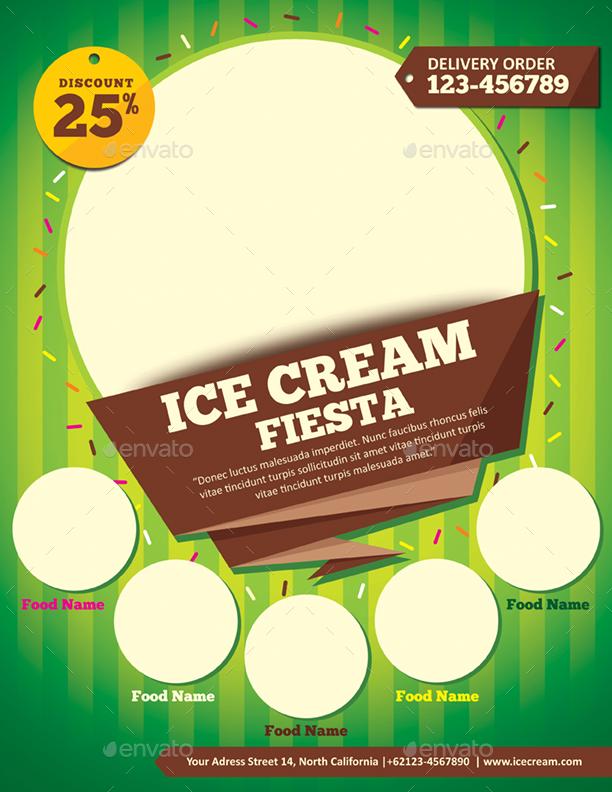 ice cream flyer template by monggokerso