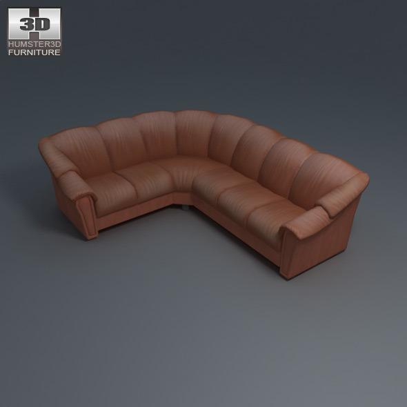 Svært Stockholm corner sofa - Ekornes - 3D Model. by humster3d   3DOcean VA-27