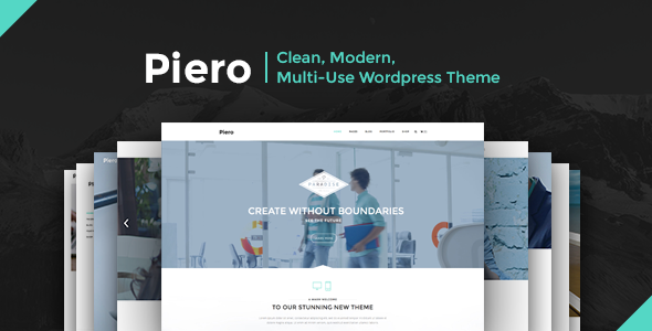 PIERO | Clean, Modern, Multi-Use WordPress Theme - Business Corporate