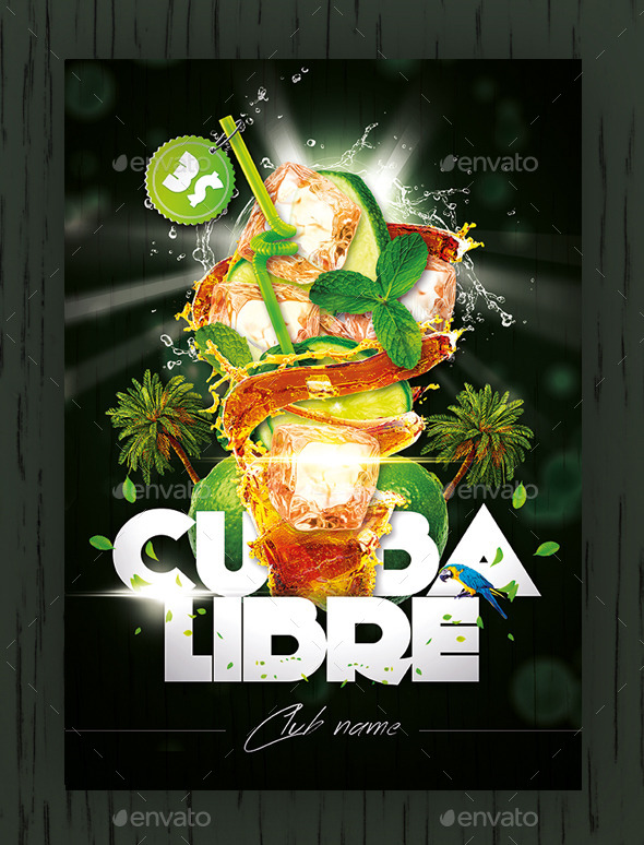 Cuba Libre Flyer/Poster - Clubs & Parties Events