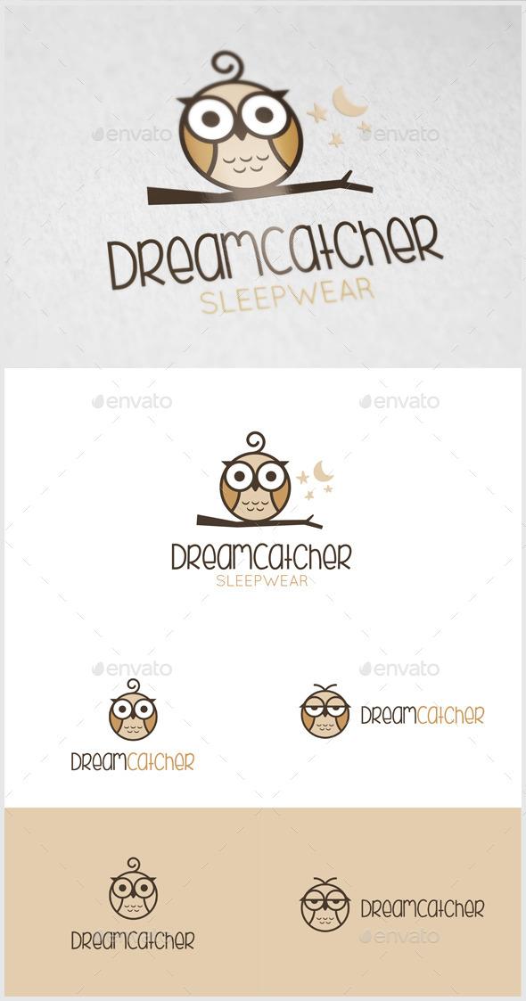 Dream Catcher Owl logo - Animals Logo Templates