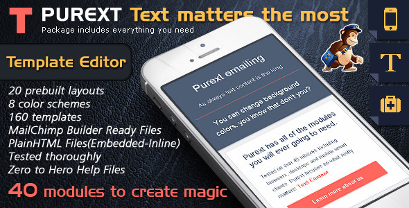 Responsive Email Template Builder – Pure Text Mail