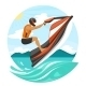 Young Man on Jet Ski - GraphicRiver Item for Sale