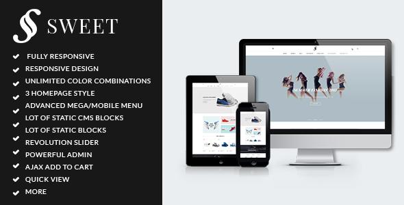 ARW Sweet – Minimalist responsive magento theme