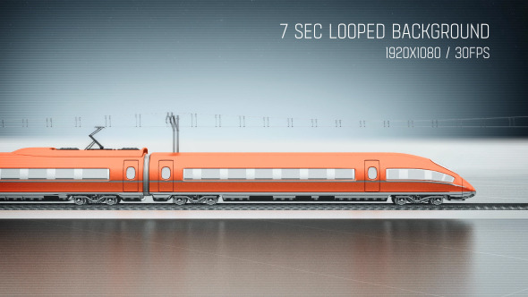 High Speed Passenger Train Side View by motionteam | VideoHive