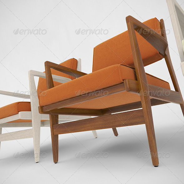 Jens Risom Caribe Hilton Chair - 3DOcean Item for Sale