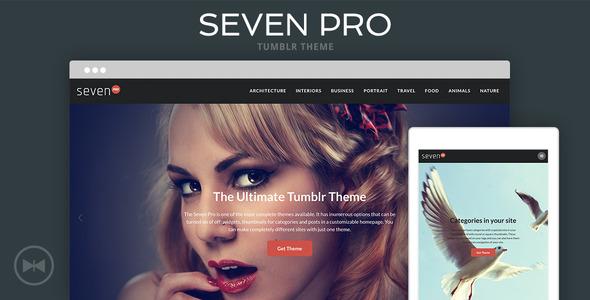 Seven Pro Tumblr Theme - Portfolio Tumblr